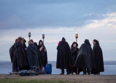 Druidic gathering? Calton Hill