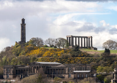 The Old Scottish Parliament Building and Calton Hill