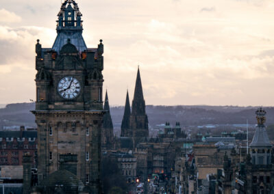 The Balmoral Hotel Clock Tower and Princes Street