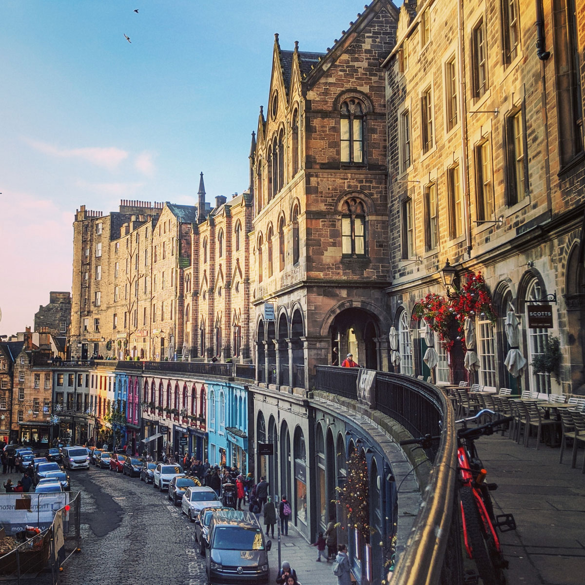 Lively daytime view of Victoria Street
